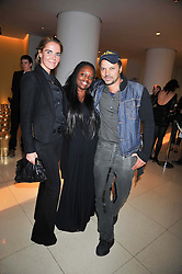 CAROLINE GALLAGHER, PAT MCGRATH and Gerry DeVeaux at the St.Martins Lane Hotel 10th year bash held on 9th September 2009.