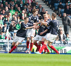 Falkirk's Craig Sibbald celebrates after scoring their first goal..Half time : Hibernian 0 v 3 Falkirk, William Hill Scottish Cup Semi Final, Hampden Park..©Michael Schofield..