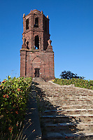Bantay Church Belfry, though the church itself was destroyed the belfry or belltower remains overlooking the site of its once splendid church outside of Vigan.