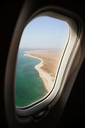 View from airliner on approach to land in Hadibu, Socotra, Yemen