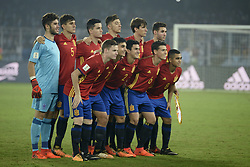 October 28, 2017 - Kolkata, West Bengal, India - Spain football team poses for team picture during the FIFA U 17 World Cup India 2017 Final match in Kolkata. Player of England and Spain in action during the FIFA U 17 World Cup India 2017 Final match on October 28, 2017 in Kolkata. England wins FIFA U 17 World Cup 5 -2 goals against Spain. (Credit Image: © Saikat Paul/Pacific Press via ZUMA Wire)