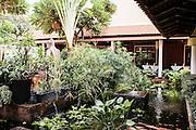 Courtyard of Malis restaurant, Phnom Penh