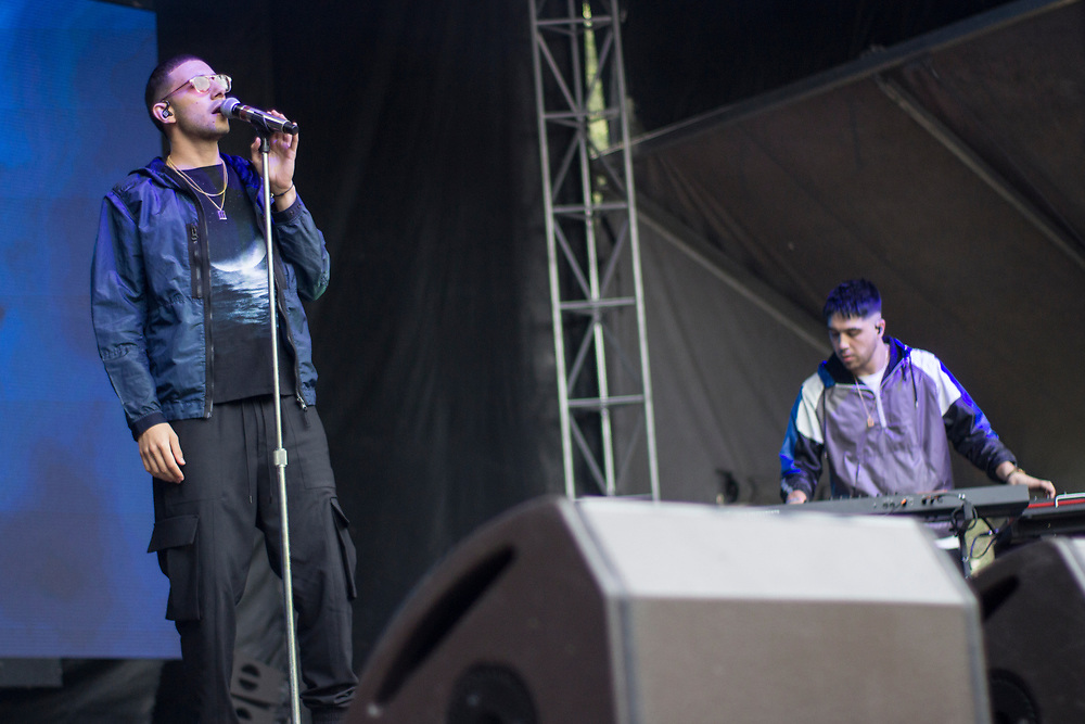 Majid Jordan performing at Lollapalooza in Chicago, IL on August 4, 2017.