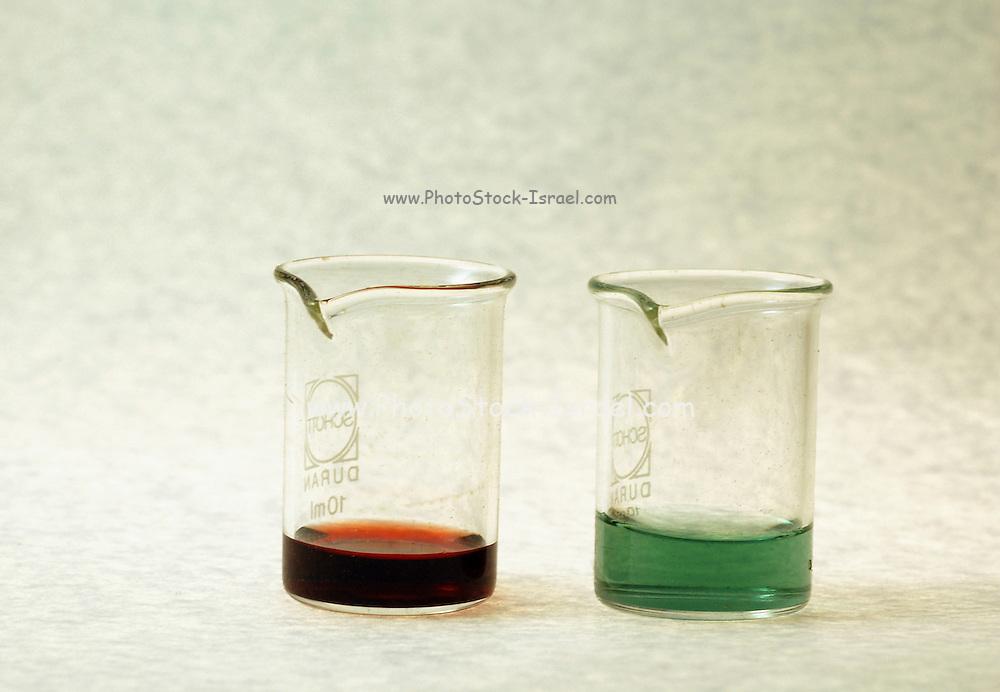 Chemicals in a beaker
