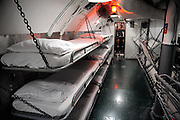 Crew sleeping quarters of WW2 submarine, the USS Bowfin. USS Bowfin Submarine Museum and Park, part of the USS Arizona Memorial Museum in Pearl Harbour, Hawai. RIGHTS MANAGED LICENSE AVAILABLE FROM www.PhotoLibrary.com
