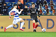 Brentford Forward Sergi Canós(7) attacking during the EFL Sky Bet Championship match between Queens Park Rangers and Brentford at the Kiyan Prince Foundation Stadium, London, England on 17 February 2021.