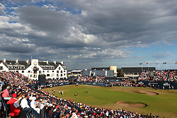 USA's Xander Schauffele and USA's Jordan Spieth on the 18th during day four of The Open Championship 2018 at Carnoustie Golf Links, Angus. PRESS ASSOCIATION Photo. Picture date: Sunday July 22, 2018. See PA story GOLF Open. Photo credit should read: David Davies/PA Wire. RESTRICTIONS: Editorial use only. No commercial use. Still image use only. The Open Championship logo and clear link to The Open website (TheOpen.com) to be included on website publishing.