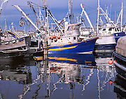 Fishing trawlers docked in Seattle, WA