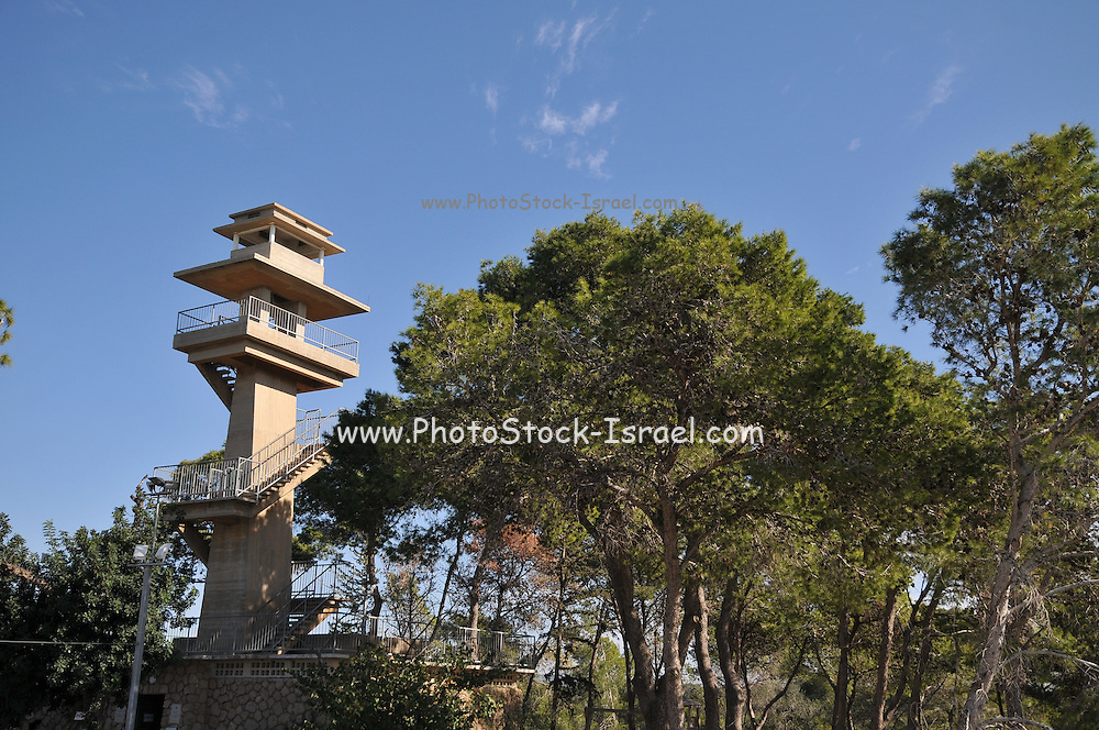 Forest fire observation tower, Israel, Carmel Forest