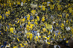 May 31, 2018 - Oakland, California, U.S - Golden State Warriors fans celebrate after winning their  NBA Championship Game 1 against the Cleveland Cavaliers  at Oracle Arena in Oakland, California on Thursday,  May 31,  2018. (Credit Image: © Prensa Internacional via ZUMA Wire)