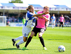 Stuart Sinclair of Bristol Rovers battles for the ball with Nicky Adams of Northampton Town  - Mandatory byline: Joe Meredith/JMP - 07966386802 - 08/08/2015 - FOOTBALL - Memorial Stadium -Bristol,England - Bristol Rovers v Northampton Town - Sky Bet League Two