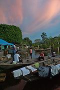 The flooded market in Pueto Narino - Amazonas - Colombia