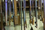 Blacksmith metal working tools at a iron working shop in Charleston, SC