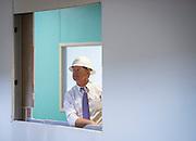 Houston ISD trustee Harvin Moore tours the new Mandarin Immersion Magnet School, July 27, 2016.