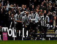 Photo: Jed Wee.<br /> Newcastle United v Aston Villa. The Barclays Premiership. 31/01/2007.<br /> <br /> Newcastle celebrate with goalscorer James Milner (2nd L).