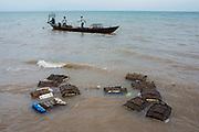 Crab fishermen in the Port of Kep, Cambodia. December / 2017.