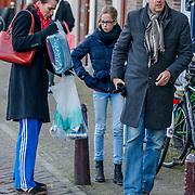 NLD/Amsterdam/20121208 - Herdenkingsdienst voor de verleden Jeroen Willems, Leopold Witte, partner en dochter