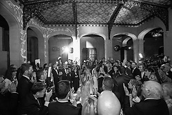 wedding guests dancing at a gay wedding