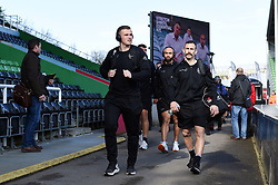 Joe Simmonds and the rest of the Exeter Chiefs team arrive at the Stoop - Mandatory byline: Patrick Khachfe/JMP - 07966 386802 - 29/02/2020 - RUGBY UNION - The Twickenham Stoop - London, England - Harlequins v Exeter Chiefs - Gallagher Premiership