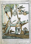 Allegorical print showing the union of France and Austria after the marriage of Napoleon I to  Archduchess  Marie Louise (1791-1847)