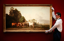 © under license to London News Pictures. George Stubb's Brood Mares and Foals, estimated at £10 -£15 million on display ahead of Sotheby's sale of Old Master & British Paintings in London and New York, photographed at Sotheby's on 03/12/10 Photo credit should read: Olivia Harris/ London News Pictures