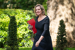© Licensed to London News Pictures. 08/05/2019. London, UK. Secretary of State for Work and Pensions Amber Rudd arrives in Downing Street. Photo credit : Tom Nicholson/LNP