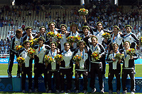 28/08/04 - ATHENS - GREECE -  - OLYMPIC FOOTBALL - FINAL MATCH - MENS  -  <br />ARGENTINA (1) Vs. PARAGUAY (0) At the Olympic Stadium in Athens. Argentine win the goal medal<br />Argentine players celebration.<br />© Gabriel Piko / Argenpress.com / Piko-Press