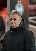 Football - UEFA 2017 / 2018 Europa League - Group H: Arsenal vs. FC BATE Borisov<br /> <br /> A dejected looking Alyaksandr Yermakovich, Manager of Bate Borisov, at The Emirates.<br /> <br /> COLORSPORT/DANIEL BEARHAM