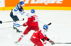 Joonas Donskoi of Finland during Ice Hockey match between Finland and Czech Republic at Quarterfinals of 2015 IIHF World Championship, on May 14, 2015 in O2 Arena, Prague, Czech Republic. Photo by Vid Ponikvar / Sportida