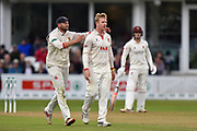 Wicket - Simon Harmer of Essex celebrates taking the wicket of James Hildreth of Somerset during the Specsavers County Champ Div 1 match between Somerset County Cricket Club and Essex County Cricket Club at the Cooper Associates County Ground, Taunton, United Kingdom on 23 September 2019.