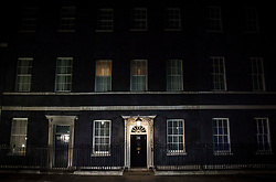 The front door of 10 Downing Street in Westminster, London, as votes are being counted in the 2017 General Election.