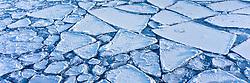Lake ice breaks up in late spring