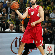 Olympiacos's Milos TEODOSIC during their Euroleague Basketball Top 16 Game 5 match Fenerbahce Ulker between Olympiacos at Sinan Erdem Arena in Istanbul, Turkey, Thursday, February 24, 2011. Photo by TURKPIX