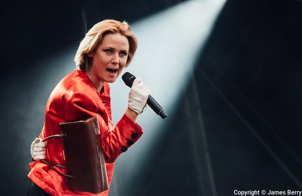 Róisín Murphy performs on the main stage at the On Blackheath festival, London, on Saturday 10 September 2016.