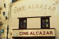 Maroc, Tanger, cinema Alcazar rue d Italie // Morocco, Tangier (Tanger), Alcazar moovie theatre on the Italie street