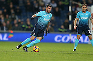 Borja Baston of Swansea city in action. Premier league match, West Bromwich Albion v Swansea city at the Hawthorns stadium in West Bromwich, Midlands on Wednesday 14th December 2016. pic by Andrew Orchard, Andrew Orchard sports photography.