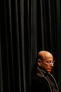 THEO ANGELOPOULOS Greek film director during a talk at a Tokyo cinema-studies college. ( http://www.theoangelopoulos.com/ ) - Tokyo, Japan