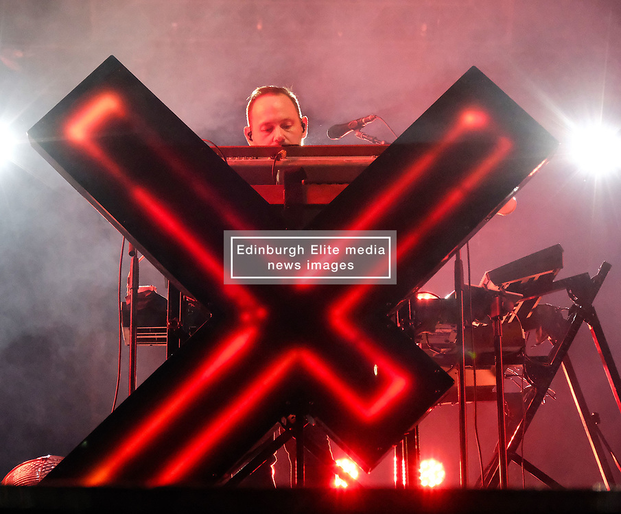 """Chvrches, Love Is Dead Tour, Glasgow Hydro, Saturday 16th February 2019<br /> <br /> Scottish band Chvrches performed at the SSE Hydro in Glasgow as part of their """"Love Is Dead"""" tour celebrating their third album of the same name.<br /> <br /> The band consists of Lauren Mayberry (singer), Iain Cook (synthesizers and guitars) and Martin Doherty (synthesizers)<br /> <br /> Pictured: Martin Doherty<br /> <br /> Aimee Todd 