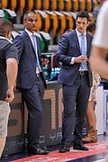 DESCRIZIONE : Campionato 2014/15 Dinamo Banco di Sardegna Sassari - Olimpia EA7 Emporio Armani Milano Playoff Semifinale Gara3<br /> GIOCATORE : Saverio Lanzarini Guido Federico Di Francesco<br /> CATEGORIA : Arbitro Referee Before Pregame<br /> SQUADRA : AIAP<br /> EVENTO : LegaBasket Serie A Beko 2014/2015 Playoff Semifinale Gara3<br /> GARA : Dinamo Banco di Sardegna Sassari - Olimpia EA7 Emporio Armani Milano Gara4<br /> DATA : 02/06/2015<br /> SPORT : Pallacanestro <br /> AUTORE : Agenzia Ciamillo-Castoria/L.Canu