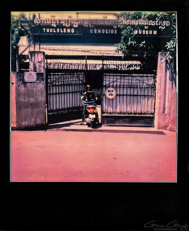 Entrance to the museum, Tuol Sleng S-21 Genocide Museum, Cambodia