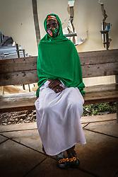 May 1, 2020, Nairobi, Kenya: A woman waits during food donation from Goodwillers in Kibera Slums. (Credit Image: © Donwilson Odhiambo/ZUMA Wire)