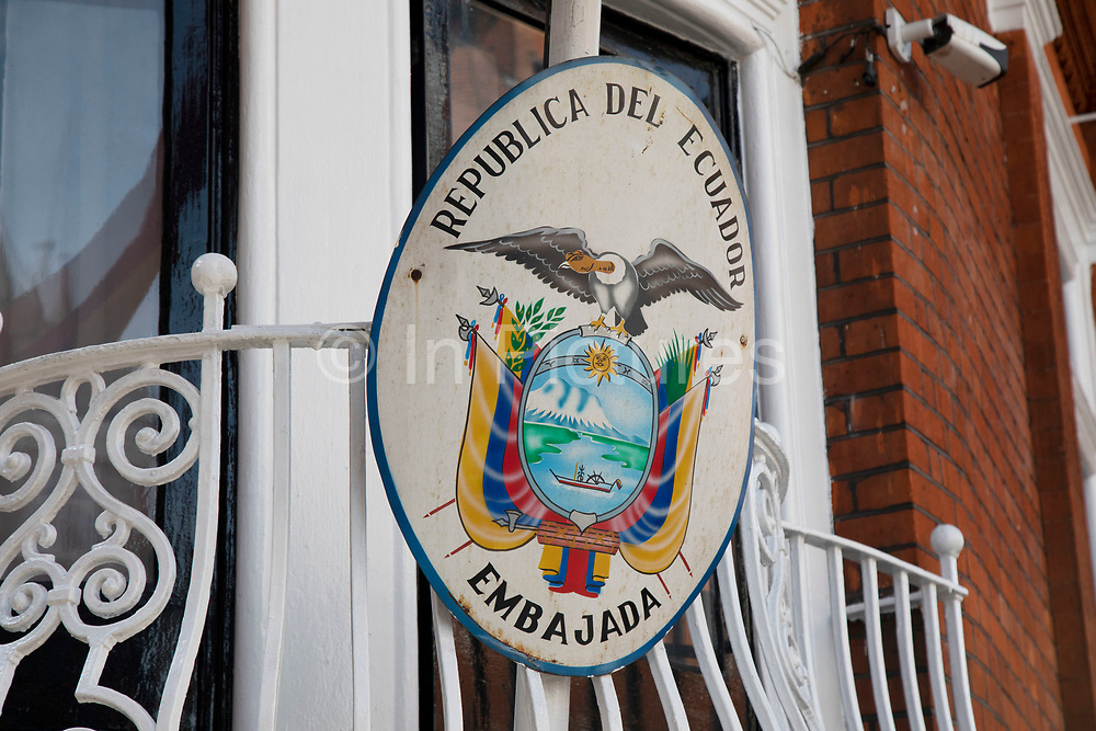 Scene outside the Ecuadorian Embassy on 5th April 2019 in London, England, United Kingdom. Wikileaks has announced that their founder Julian Assange may be expelled from the Embassy within hours or days.