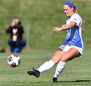 St. Louis University player Isabel Burke takes a shot on goal. St. Louis University defeated George Washington in the championship game of the Atlantic 10 Conference Women's Soccer Tournament at Robert Hermann Stadium at St. Louis University on Sunday November 10, 2019.<br /> Photon by Tim Vizer