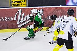 19.10.2012. Hala Tivoli, Ljubljana, SLO, EBEL, HDD Telemach Olimpija Ljubljana vs Dornbirner Eishockey Club, 13. Runde, in picture Brock McBride (HDD Telemach Olimpija, #10) during the Erste Bank Icehockey League 13th Round match betweeen HDD Telemach Olimpija Ljubljana and Dornbirner Eishockey Club at the Hala Tivoli, Ljubljana, Slovenia on 2012/10/19. (Photo By Matic Klansek Velej / Sportida)