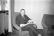 11th April 1967<br /> <br /> Minister for Finance Charles Haughey on Budget Day.