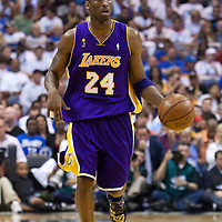 14 June 2009: Kobe Bryant of the Los Angeles Lakers dribbles during game 5 of the 2009 NBA Finals won 99-86 by the Los Angeles Lakers over the Orlando Magic at Amway Arena, in Orlando, Florida, USA. Kobe Bryant scores 30 points and leads the Lakers to15th Championship.