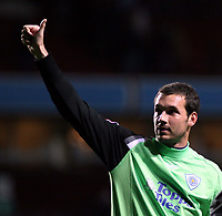 Photo: Mark Stephenson.<br /> Aston Villa v Leicester City. Carling Cup. 26/09/2007.Leicester's keeper  Marton Fulop thanks the fans after the game