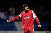 Photo: Alan Crowhurst.<br />Gillingham v Swindon Town. Coca Cola League 1. 14/01/2006. <br />Swindon captain Sean O'Hanlon rues a missed chance.