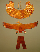 Gold collars, pectorals, amulets, Dynasty 18, reign of Thutmose 111 (ca. 1479-1425 B.C.)  Sheet gold.