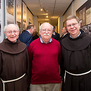 30.05. 2017.                                             <br /> Limerick Museum opened the doors to its new home at the former Franciscan Friary on Henry Street in the heart of Limerick city, dedicated to the memory of Jim Kemmy, the former Democratic Socialist Party and Labour Party TD for Limerick East and two-time Mayor of Limerick.<br /> <br /> Pictured at the opening of the new Museum were, Joe McMahon, Sean Kelly and Hugh McKenna.<br /> <br /> The museum will house one of the largest collections of any Irish museum. Picture: Alan Place